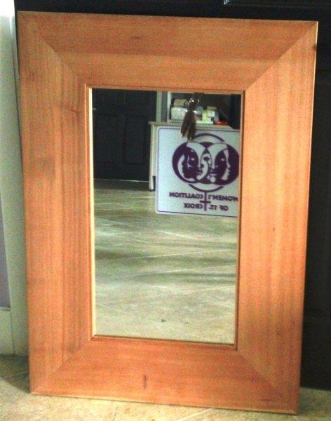 Mahogany Canvas Mirror