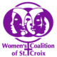 WCSC's logo in purple