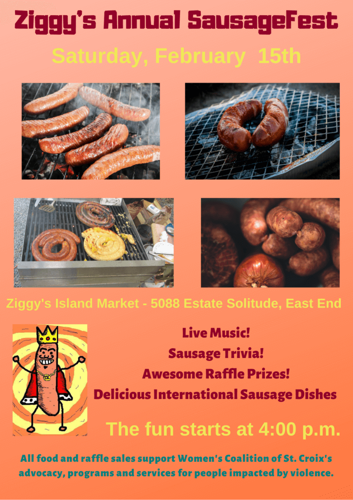 Poster for 2020 Sausagefest with date and location